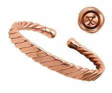 SALE Mens Solid Copper Magnetic Cuff Bracelet York Medium Gift Box
