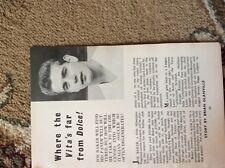 b1r ephemera 1961 article joe baker footballer signs for italy