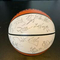 2000-01 Dallas Mavericks Team Signed Spalding NBA Basketball With JSA COA