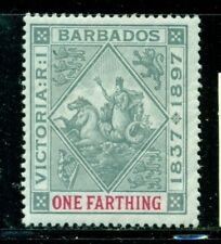 BARBADOS 81 SG116 MH 1897 1/4p Badge QVIC Diamond Jubilee Cat$11