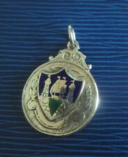 Irish Sterling Silver Fob Medal 1959 Dublin - Cork Coat Of Arms - not engraved