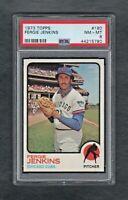 1973 TOPPS #180 FERGIE JENKINS CHICAGO CUBS PSA 8.0 NM/MT++SHARP CARD!