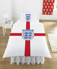WORLD CUP ENGLAND SINGLE BED DUVET COVER SET ST GEORGE CROSS WHITE RED CREST