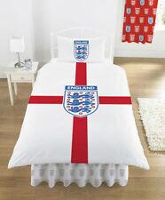 Inghilterra Letto Singolo Set Copripiumino St George Cross Bianco Rosso CREST 3 Leoni