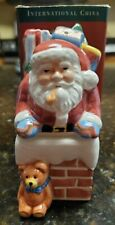"""International China """"A Christmas Story� Stackable Salt and Pepper Susan Winget"""