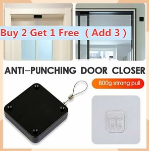 HOT Punch-free Automatic Door Closer Sensor Auto For Home All Doors Security AU~