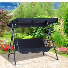 Outdoor Patio Porch Swing Canopy Outsunny Garden Bench 3 Person Seat Furniture