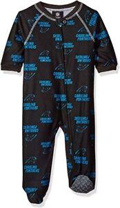 Outerstuff NFL Infant Carolina Panthers Raglan Zip Up Coverall Pajamas