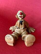 "Andreoli Clown Sitting - Signed (1978) - Andreoli Hallmark Clowns 5-1/2"" Tall"