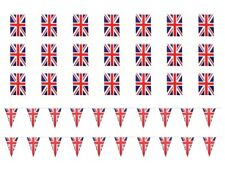 More details for 10m/33ft union jack bunting banner with 25 rectangular / 20 triangle fabric flag