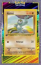 🌈Machoc - Set de Base Edition 1 - 52/102 - Carte Pokemon Neuve Française