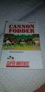 SNES Cannon Fodder (SNSP-ACNP-EUR) manual only
