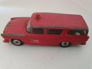Vintage Dinky 257 Canadian Fire Chiefs Car Nash Rambler 1960- 1967