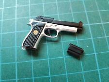 1:6 Scale Beretta Inox 92fs with suppressor pistol gun