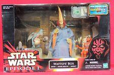 Figurine Star Wars. WATTO'S BOX. Watto + Graxol + Shakka. Hasbro 1999 Episode 1.