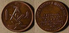 Tokens:Masonic Pen. Eastwood Lodge Ch.1383 RAM Houston TX AU-UNC IR2502