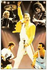Queen Music Group Freddie Mercury and Band Members Postcard
