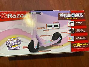 Razor Wild Ones Kids' Pink Unicorn Junior Kick Scooter New