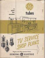 Vintage 1956 GE General Electric  TV Service Plans  Information - GE Tubes