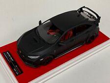 1/18 MotorHelix Honda Civic Type R LHD in Matt Black Customized Red Base