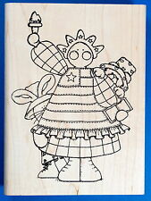 Statue of Liberty Doll Rubber Stamp - Patriotic America USA Fourth of July