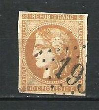 FRANCE N° 43B CERES 10 C. BISTRE jaune Emission BORDEAUX. Oblitéré. Cote 110 €