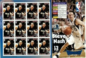 Gambia 2005 - NBA - Steve Nash - Dallas Mavericks - Sheet of Twelve Stamps - MNH
