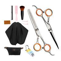 Barber Hair Cutting Haircut Scissors Set w/ Accessories Comb Cape Clips A
