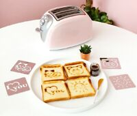 2 Slice Wide Slot Toaster, Compact Small Size Toaster Pink Color Toaster