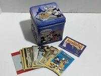 Vintage Disneyworld Tin & Walt Disney Skybox Collectible Cards W/ Mickey Mouse