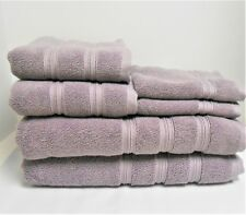 DKNY 6-Piece Bath Towel Set Lavender 2 Bath, 2 Hand, 2 Face Cloths New