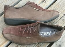 Women's Mephisto Brown Nubuck Suede Leather Casual Shoes Sz 9 Bicycle Toe Front