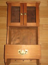 Shabby Chic Wall Cabinet Drawers Cupboard Vintage Kitchen Display Shelf Unit