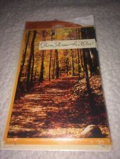 Hallmark Thanksgiving Greeting Cards - Set of 6 - Fall Hiking Trail Autumn NEW