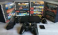 Sony PlayStation 2 PS2 Slim Console Bundle with 6 Games, Controller, and Cables!