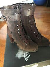 Geox Trish Women Brown Suede Boots
