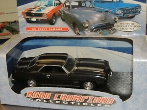 1969 PONTIAC FIREBIRD TRANS AM W/DISPLAY CASE ROAD CHAMPS 1:43 SCALE