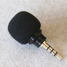 3.5mm Mini Black Stereo Microphone Mic for Mobile Cell Phone Recording US STOCK