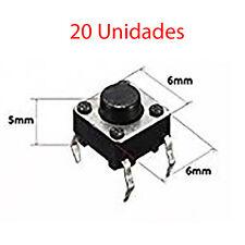 20X Micro Pulsador Interruptor Switch 6x6x5 mm Pcb Arduino 4 Pines Cortos