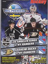 2011 STOCKHOLM SWEDEN NHL PREMIERE PROGRAM NEW YORK RANGERS KINGS DUCKS