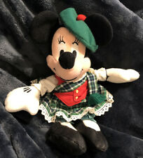 "Disney Store Globe Trotting Scottish Minnie Mouse 8"" Bean Bag Plush Toy"