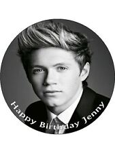 "7.5"" Niall Horan One Direction  Personalised Edible PRE CUT ICING Cake Topper"