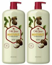 (2) Old Spice Moisturize with Shea Butter Body Wash - 40 oz. bottle with pump