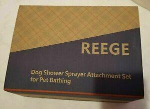 REEGE DOG Shower Sprayer Attachment SET Pet Bathing Washing-W/ Bathroom Arm NEW
