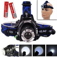 2000LM Zoomable T6 LED Headlamp Rechargeable Headlight + 18650 Battery ZH