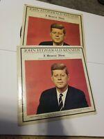 2 Premier John F Kennedy Memorial Album Highlights of Speeches 1963 Vinyl