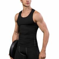 US Mens Sport Shirt Fitness Gym Quick Dry Compression Sleeveless Vest Tank Top