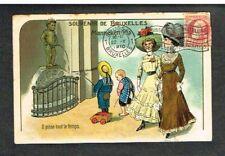 Bruxelles - Manneken-Pis - Carte Postale humoristique circulée en 1910.
