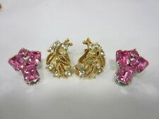Vintage Lisner & Weiss Rhinestone Earrings