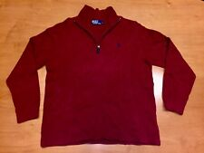 Polo Ralph Lauren Red Wool Half Zip Sweater tommy hilfiger j crew coat jacket